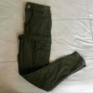 American Eagle army green utility jeans